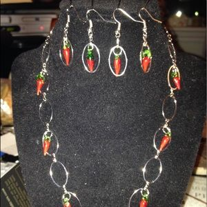 Jewelry - New never worn Silver Necklace & earrings set